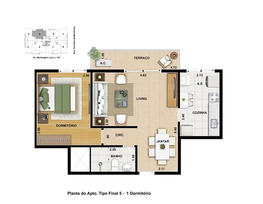 Estrutura construtora washington luiz - Plantas para dormitorio ...